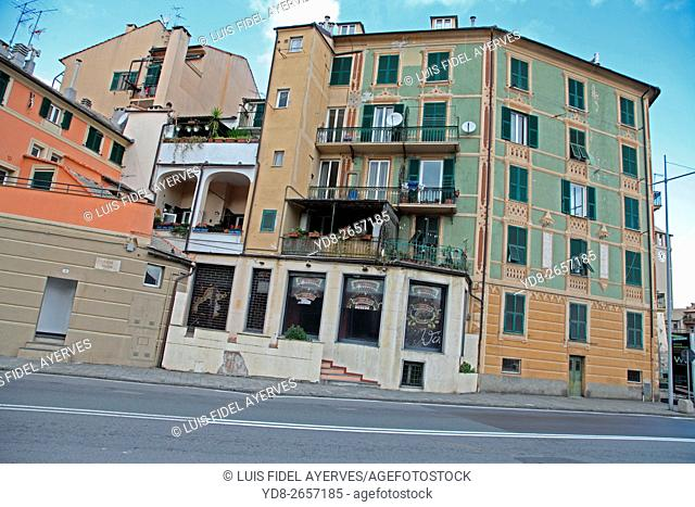Old building in Savona, Liguria, Italy