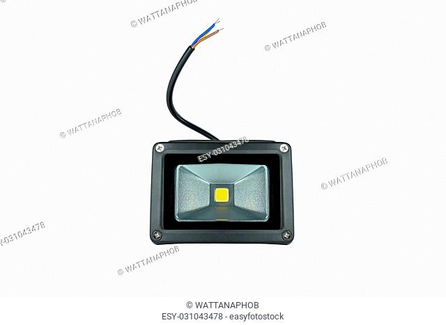 LED flood light outdoor isolated on white background