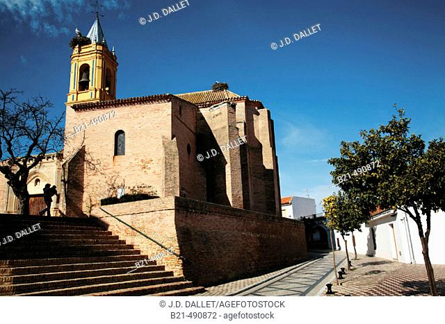 Saint Georges church, at Palos de la Frontera, where Christopher Columbus, and his sailors, prayed last time, just before leaving fo America, in 1492