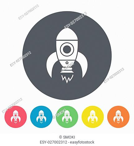 Rocket thin line flat vector related icon for web and mobile applications. It can be used as - logo, pictogram, icon, infographic element