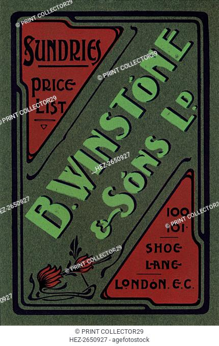 'B. Winstone & Sons Ltd. advertisement', 1907. Artist: Unknown