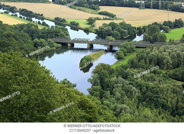 Hagen, Dortmund, Syburg, D-Hagen, Ruhr area, Westphalia, North Rhine-Westphalia, NRW, view from Hohensyburg in Dortmund-Syburg to the Ruhr valley in Hagen