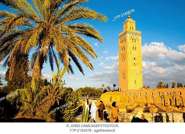 Koutubia mosque minaret, Marrakech, Morocco, North Africa