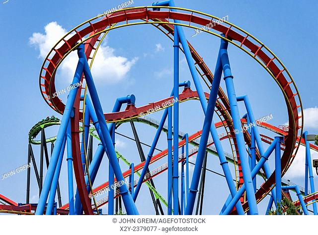 Roller coaster, Great Adventure, Six Flags, New Jersey, USA