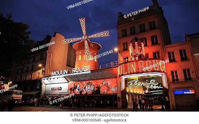 Moulin Rouge Nightclub Theatre in Paris