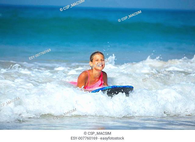 Summer vacation - surfer girl
