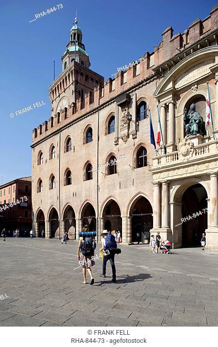 Palazzo D'Accursio Palazzo Comunale Town Hall, Piazza Maggiore, Bologna, Emilia-Romagna, Italy, Europe