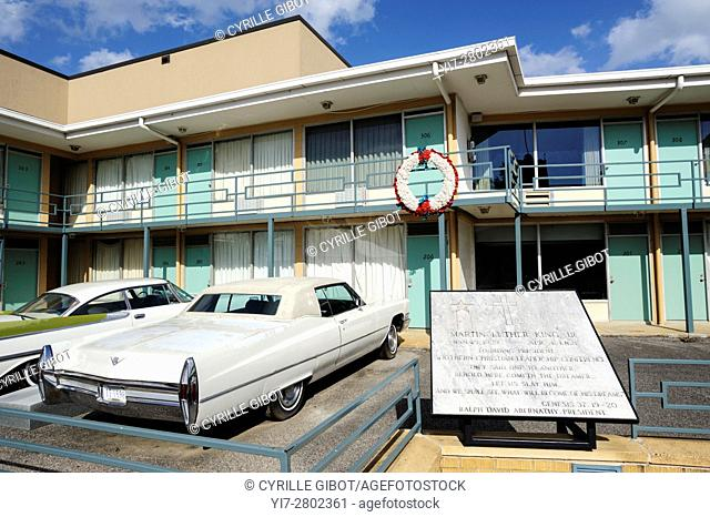 The Lorraine Motel, Memphis, Tennessee, USA. The former Lorraine Motel, where Martin Luther King Jr. was murdered in April 1968