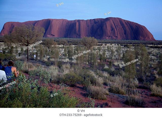 Uluru/Ayers Rock at dawn, 348M high rising 861M above sea level, Northern Territory, Central Australia