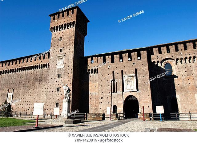 Castello Sforzesco Sforza's Castle, Lombardy, Italy
