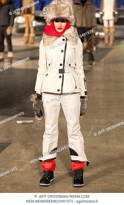 New York Fashion Week Fall/Winter 2016 - Moncler Grenoble Presentation at Lincoln Center Featuring: Model Where: New York, New York