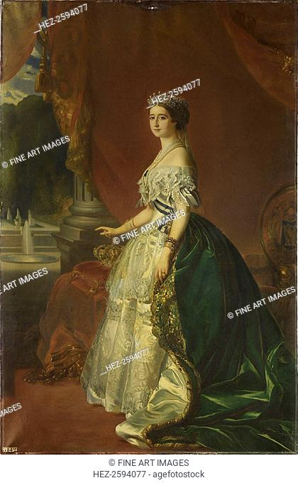 Portrait of Eugénie de Montijo (1826-1920), Empress of the French, 1853. Found in the collection of the Musée national du château de Compiègne