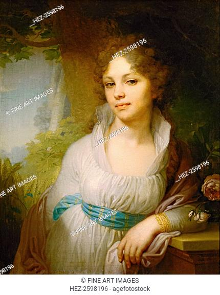 Portrait of Maria Lopukhina, 1797. Found in the collection of the State Tretyakov Gallery, Moscow
