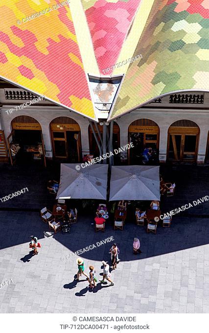 Spain, Catalonia, Barcelona, Santa Caterina market, Detail of the Santa Caterina Market and La Torna restaurant