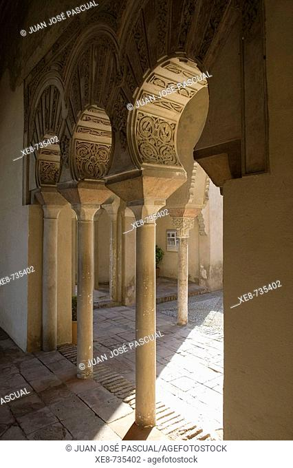 Courtyard of Moorish 'alcazaba', Malaga. Andalucia, Spain
