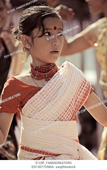 Bihu, Assamese Tribes Performing Traditional Bihu Dance
