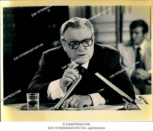 Aug. 08, 1975 - Vice President Nelson Rockefeller testifying before the Moreland Commission which is investigating nursing home abuses