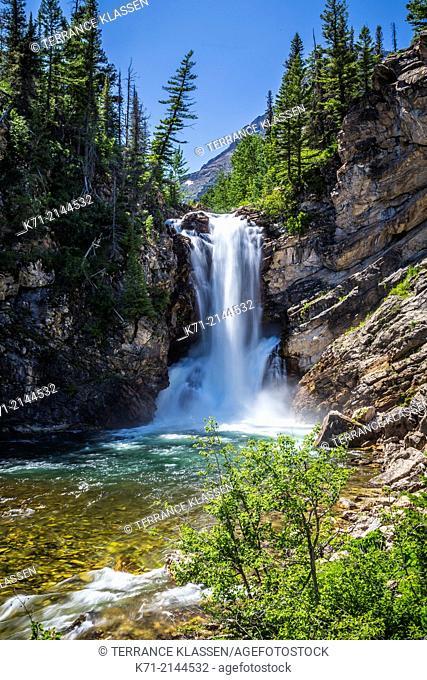 The Running Eagle Falls at Two Medicine Lake, Glacier National Park, Montana, USA