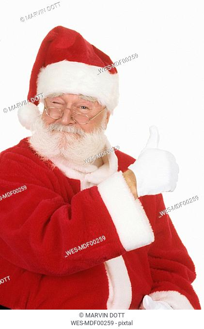 Santa Claus, thumbs up, portrait, close-up