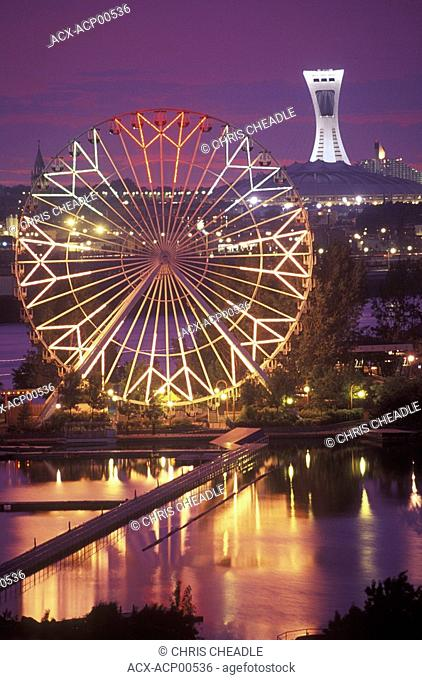 Skyline of Olympic Park and Laronde, Montreal, Quebec, Canada
