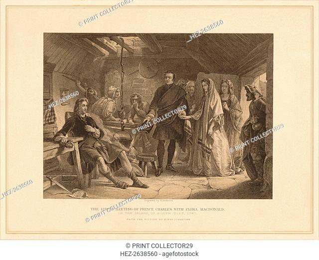'The First Meeting of Prince Charles with Flora Macdonald', 1747 (1878). Artist: Robert Anderson