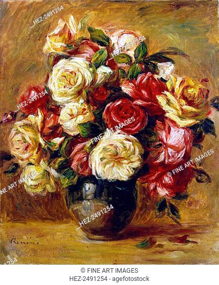 Bouquet of Roses', c1909. Renoir, Pierre Auguste (1841-1919). Found in the collection of the State Hermitage, St. Petersburg