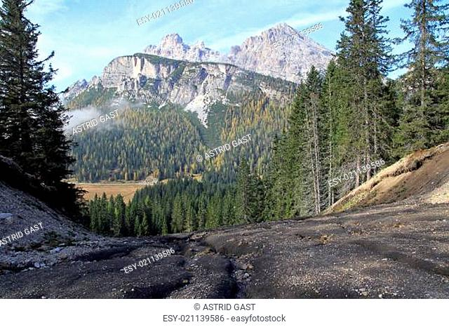 Bodenerosion in den Bergen