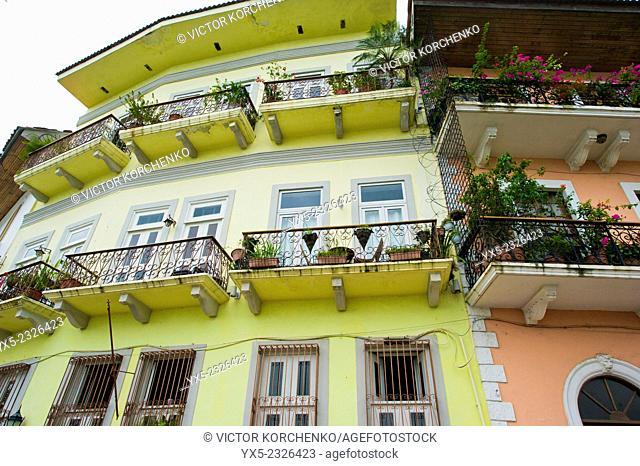 Renovated buildings in Casco Viejo area, Panama City