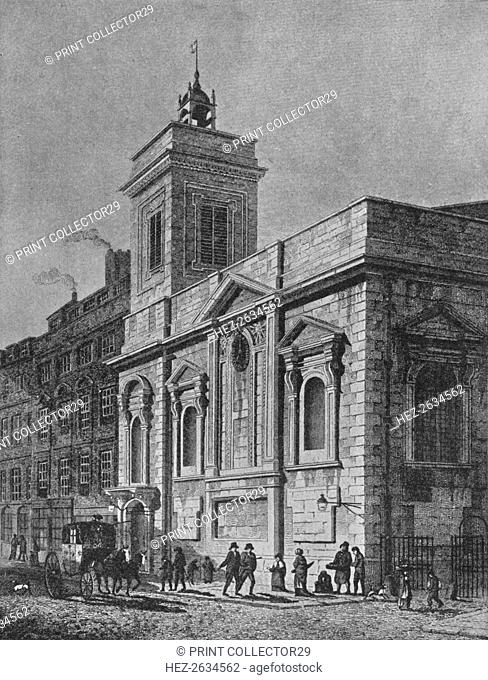 Church of St Mildred, Poultry, City of London, 1812 (1911). Artist: George Sidney Shepherd