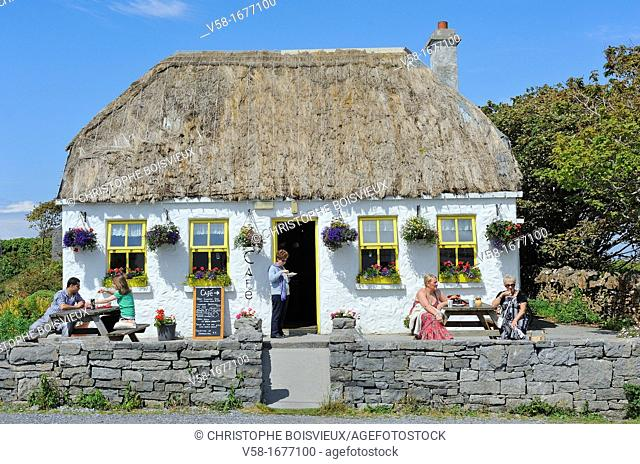 Ireland, County Galway, Aran Islands, Inishmore, Kilmurvey local cafe
