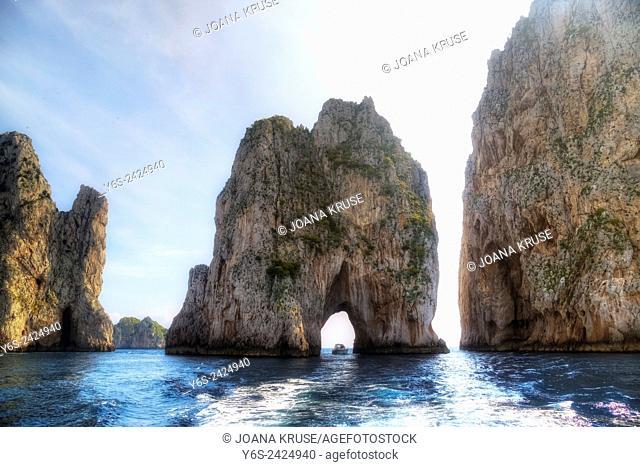 Faraglioni, Capri, Naples, Campania, Italy