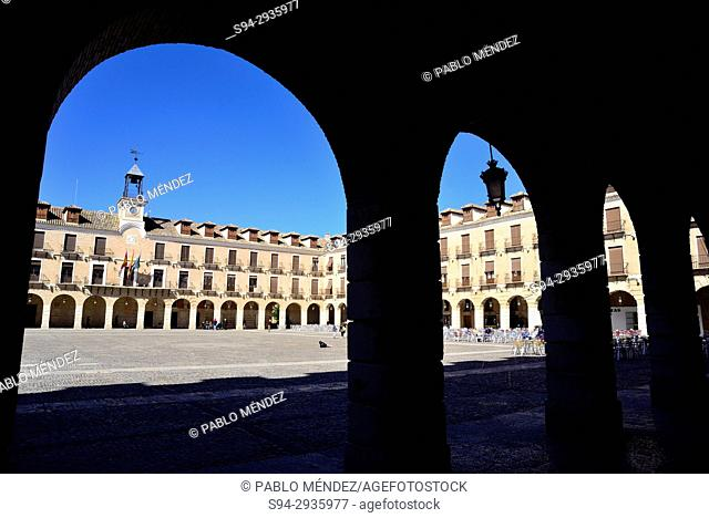 Main square of Ocaña, Toledo, Spain