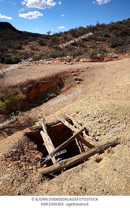 Old abandoned mining shaft. Arkaroola, Flinders Ranges, South Australia