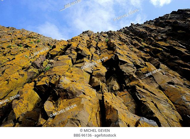 downside view of a cliff
