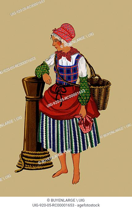 Fisherwoman with Basket from St. Pol