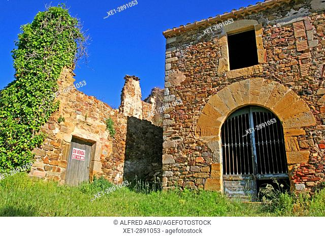 Ancient rectory of the church of Sant Cebrià dels Alls, Les Gavarres, Girona, Catalonia, Spain
