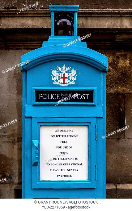 Old Fashioned Police Telephone Box, London, England
