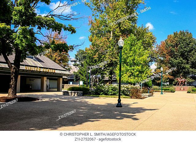 The entrance foyer to the Kentucky Horse Park at Lexington, KY
