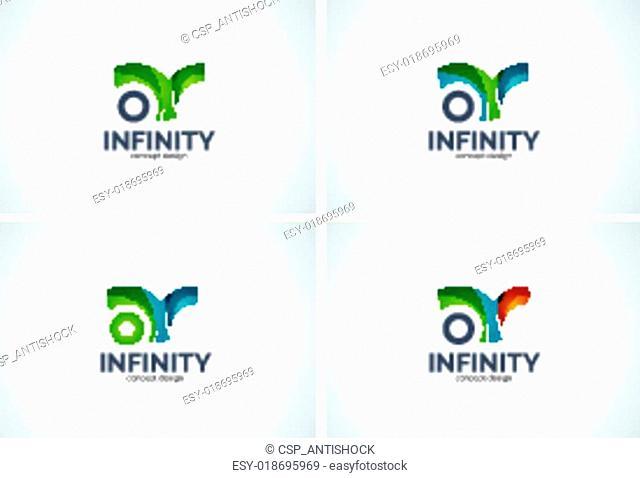Infinity company logo icon set