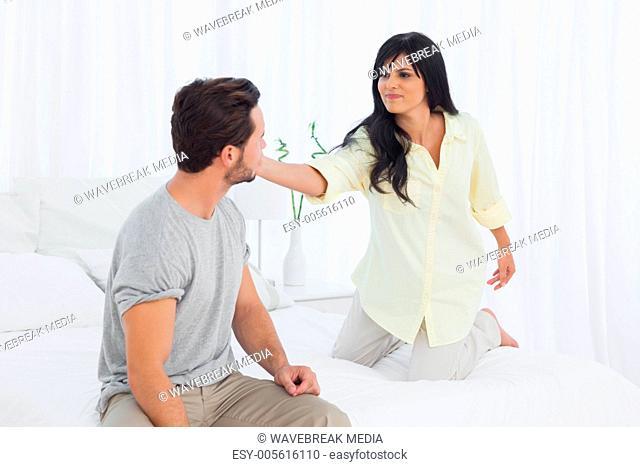 Woman slapping her boyfriend