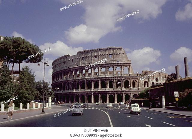 Ancient Colosseum, Rome, Italy, 1961