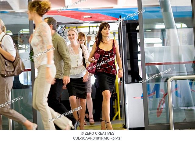 People in a busstation