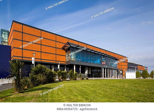 UK, Northern Ireland, Belfast, Belfast Docklands, riverfront Odyssey Complex, science and entertainment venue