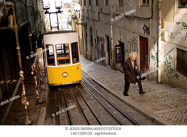 Elevador da Bica, Lisboa, Portugal