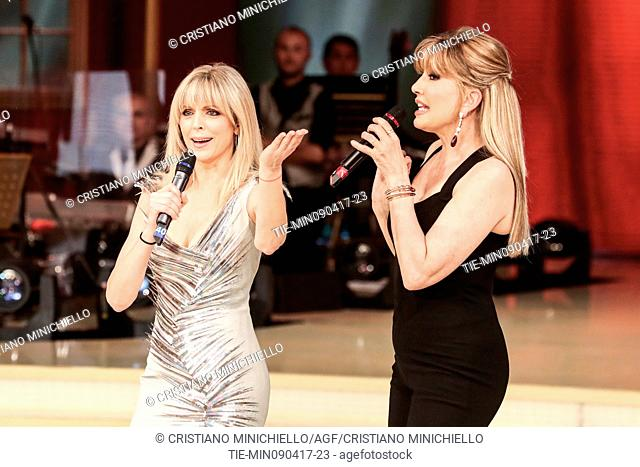 Marla Maples with Milly Carlucci guest at the tv show Ballando con le stelle, Rome, ITALY, 08-04-2017
