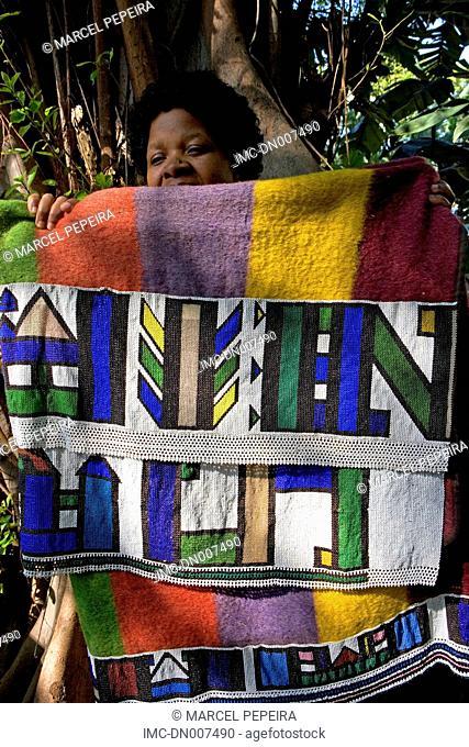 South Africa, KwaZulu-Natal, ndebele cloth
