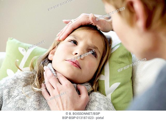 CHILD WITH SORE THROAT