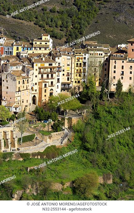 Cuenca, Jucar river gorge, UNESCO World Heritage Site. Castilla-La Mancha. Spain