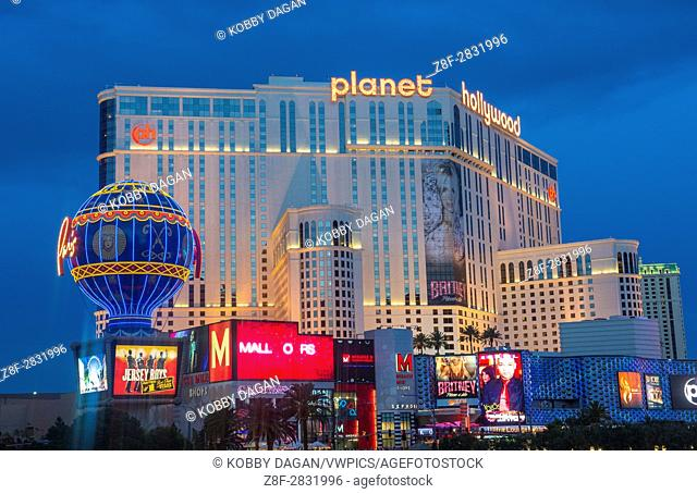 Planet Hollywood Resort and Casino in Las Vegas. Planet Hollywood has over 2,500 rooms available and it located on Las Vegas Boulevard