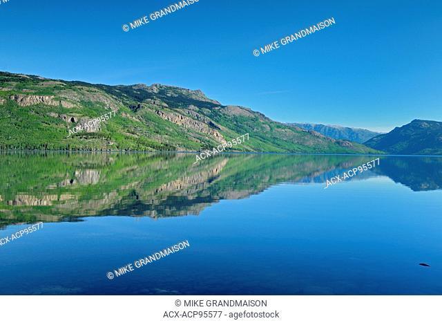 Reflection in Kinaskan Lake along the Stewart Cassiar Highway Along the Stewart Cassiar Highway British Columbia Canada